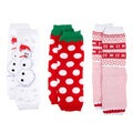 Christmas Baby Leg Warmers (Set of 3)