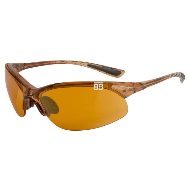BTB Sport Optics Brown Copper Half-frame Sunglasses