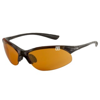 BTB Sport Optics Black Copper Half-frame Sunglasses