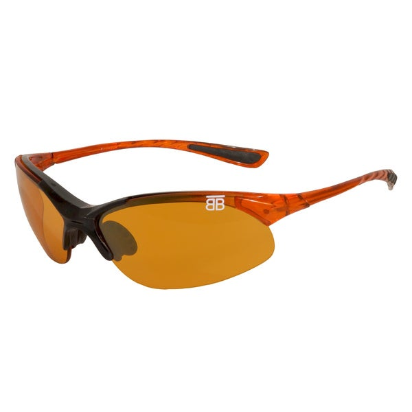 BTB Sport Optics Orange Copper Half-frame Sunglasses