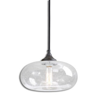 Uttermost Torus 1-light Rust Black Mini Pendant