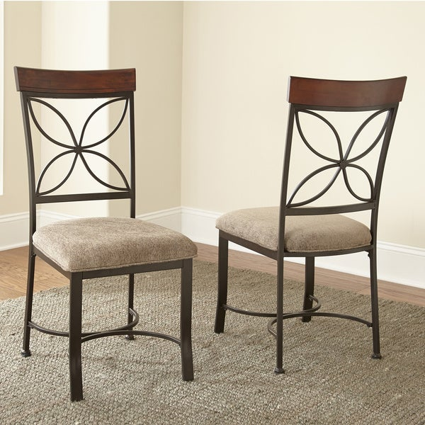 Greyson Living Santiago Dark Grey/ Beige Dining Chair (Set of 2)
