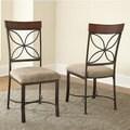 Santiago Dark Grey/ Beige Dining Chair (Set of 2)