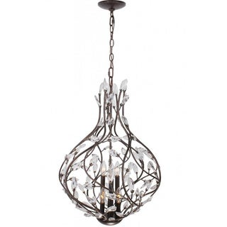 6-light English Bronze Chandelier