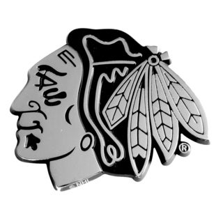 NHL Chicago Blackhawks Chromed Metal Emblem