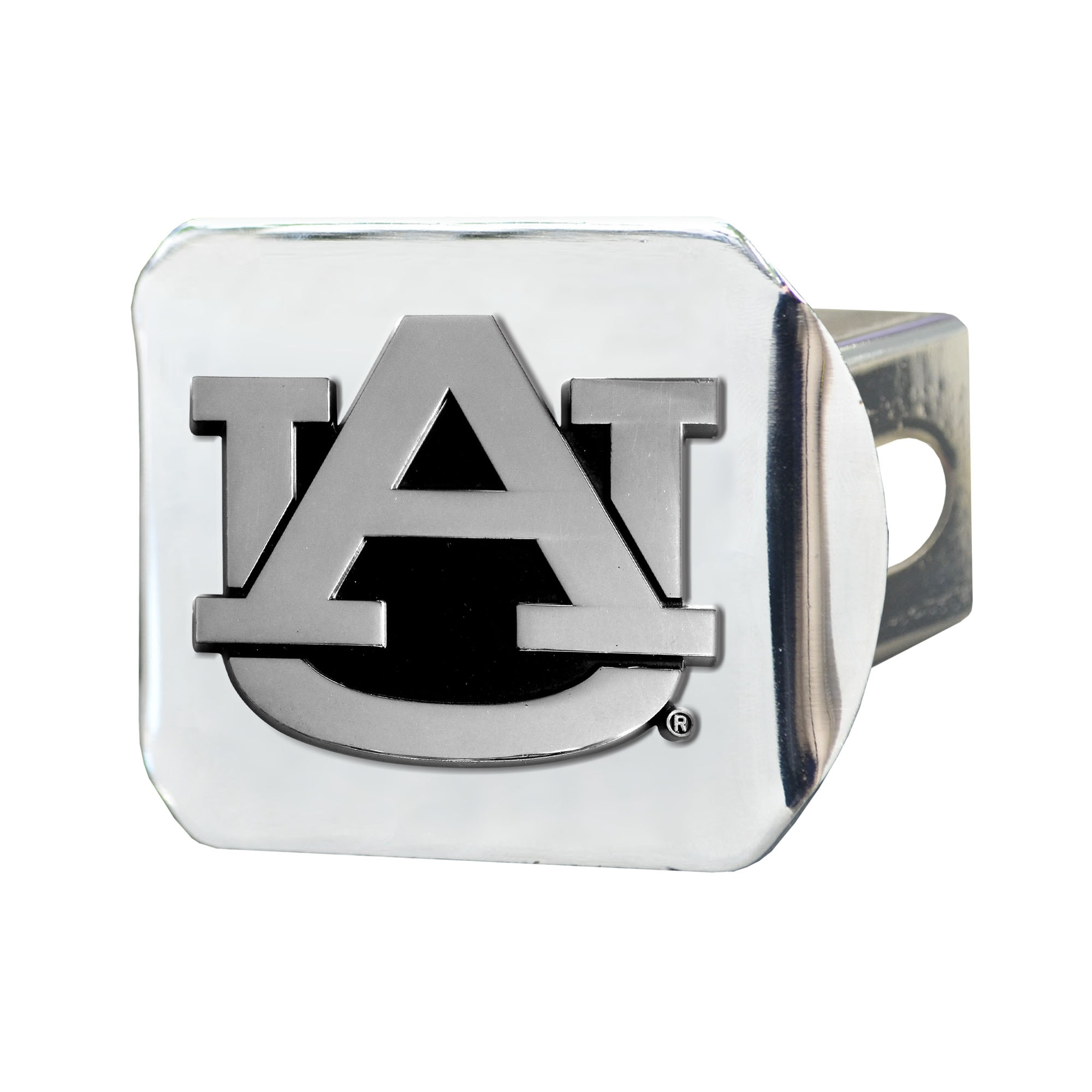 Fan Mats Chrome Metal Collegiate Hitch Cover