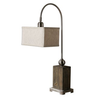 Abilene 1-light Wood/ Brushed Nickel Buffet Lamp