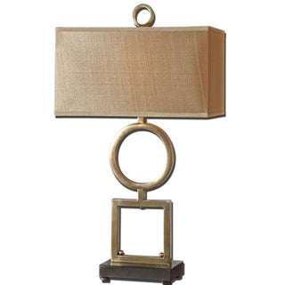 Rashawn 1-light Plated Coffee Bronze Table Lamp