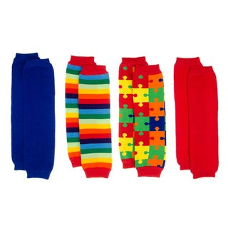 Autism Awareness Baby Leg Warmers (Set of 4)