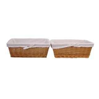 Organize It All Honey Willow Flat Basket (set of 2)