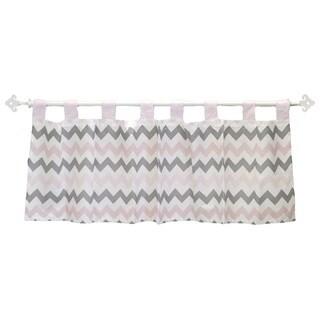My Baby Sam Pink Chevron Curtain Valance