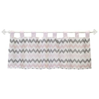 My Baby Sam Pink Chevron Curtain Valance
