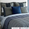 Tommy Hilfiger Railroad Stripe Reversible 3-piece Quilt Set