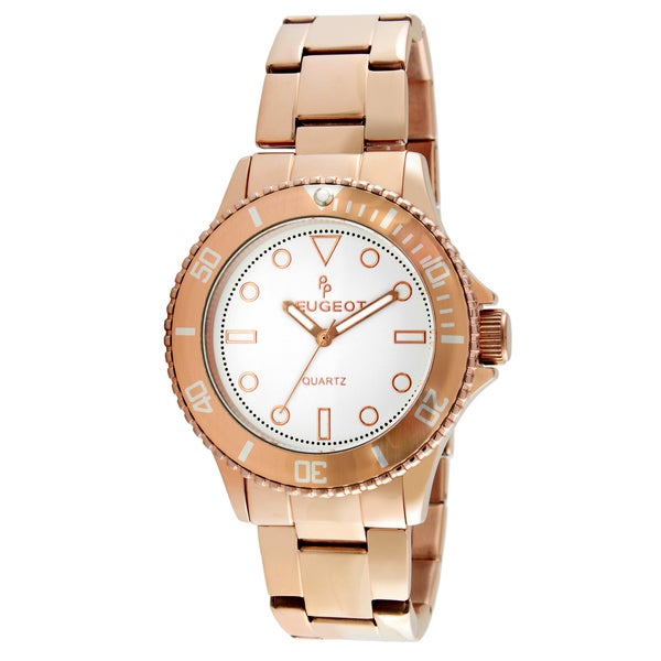Peugeot Women's Rosegold-Tone Ratchet Bezel Watch