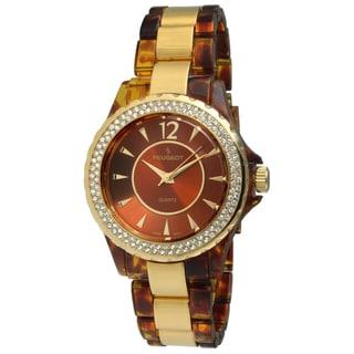 Peugeot Women's Acrylic Tortoise Bracelet Watch
