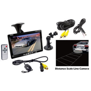 "Pyle PLCM7700 7"" Window Suction Mount TFT/LCD Video Monitor w/ Rearview Backup Camera (Refurbished)"