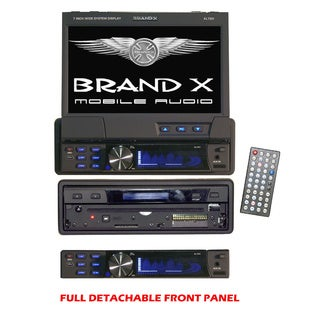 "BrandX XL7DV 7"" 1-DIN Motorized Touchscreen DVD CD/MP3 USB/SD/ AM/FM Receiver w/ Remote (Refurbished)"