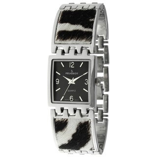 Peugeot Women's Zebra Animal Print Link Watch