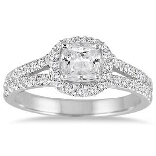 14k White Gold 1 1/2ct TDW Cushion-cut Diamond Engagement Ring (I-J, I1-I2)