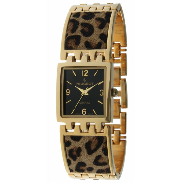 Peugeot Women's Leopard Animal Print Link Watch