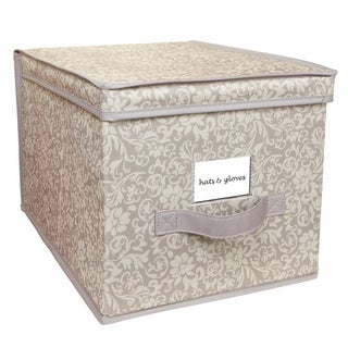 Elegant Collapsible Design Lid Fern Pattern Large Storage Box