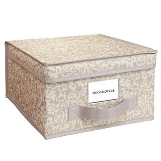Elegant Collapsible Design Lid Fern Pattern Medium Storage Box