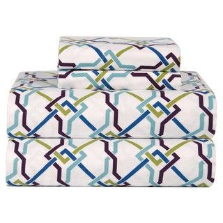 Celeste Home Lattice Ultra Soft Flannel Sheet Set