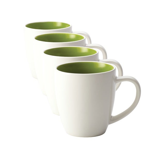 Rachael Ray Dinnerware Rise 4-piece Stoneware Green Mug Set