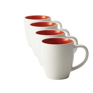 Rachael Ray Dinnerware Rise 4-piece Orange Stoneware Mug Set