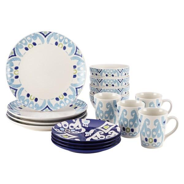 Rachael Ray Dinnerware Ikat 16-piece Stoneware Dish Set