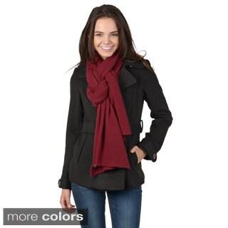 Portolano Women's Solid Color Cashmere Wrap