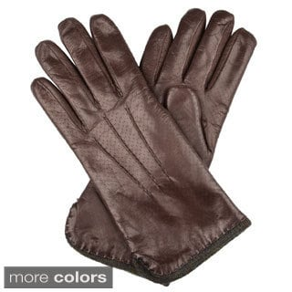 Portolano Women's Leather Wool-lined Gloves