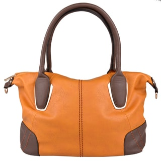Journee Collection Womens Double-Handle Faux-Leather Tote Bag