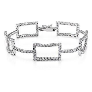 Shira Design 14k Gold 2ct TDW Geometric Diamond Link Bracelet (G-H, SI1-SI2)