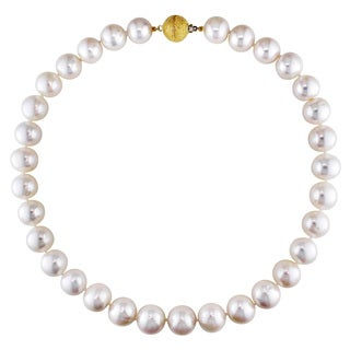 Miadora 14k Yellow Gold Cultured Pearl Necklace (13-15 mm)