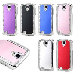Gearonic Metal Aluminum Plating Bling Hard PC Cover Case for Samsung Galaxy S4 i9500