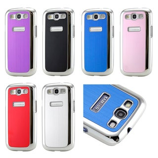 Gearonic Metal Aluminum Plating Hard PC Cover Case for Samsung Galaxy S3 i9300