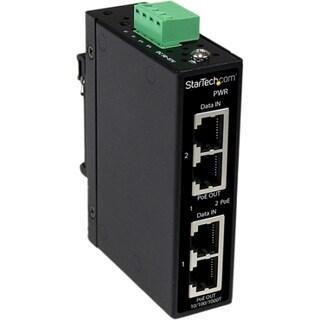 StarTech.com Industrial 2 Port Gigabit PoE+ Power over Ethernet Injec