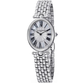 Frederique Constant Women's 'Art Deco' Stainless Steel Mother of Pearl Dial Watch