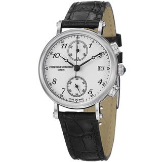 Frederique Constant Women's 'Classics' Black Leather Strap Watch