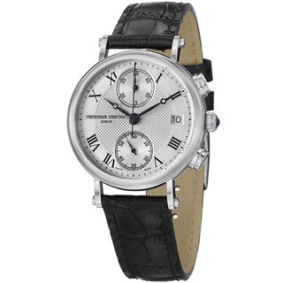 Frederique Constant Women's FC-291MC2R6 'Classics' Silver Dial Chronograph Watch