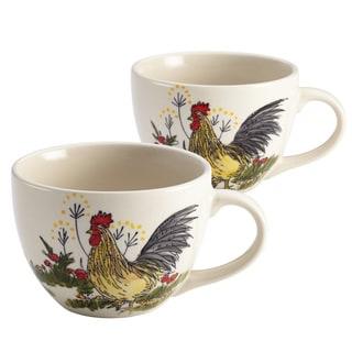 Paula Deen Signature Dinnerware Southern Rooster 2-piece Jumbo Mug Set