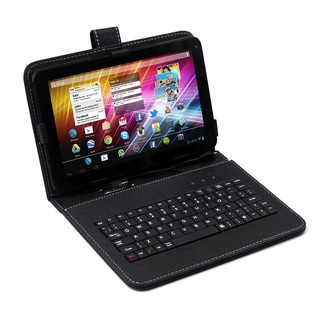 "SVP 7"" Android 4.1 4GB Dual Core Capacitive Touchscreen Tablet with Keyboard Case"