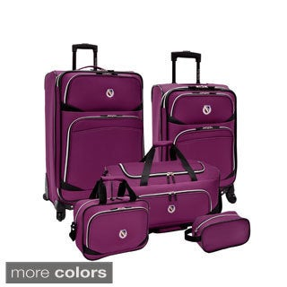 Beverly Hills Country Club by Traveler's Choice San Vincente 5-piece Spinner Luggage Set