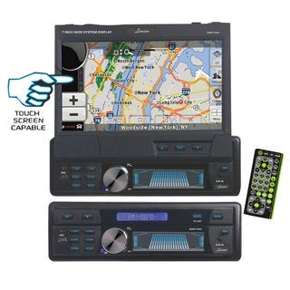 "Lanzar SDBT74NV 7"" 1-DIN Motorized Touchscreen Recevier w/ DVD/CD USB/SD AM/FM Radio (Refurbished)"