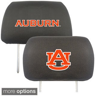 Collegiate Elastic Band Headrest Cover