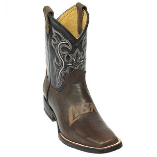 Kids Detroit Lions Western Leather Boots