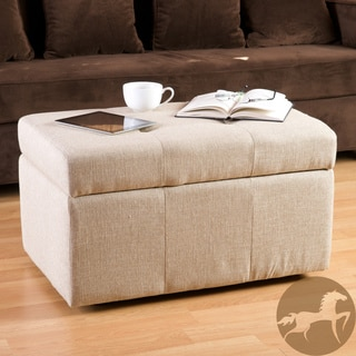 Christopher Knight Home Rosetta Tufted Fabric Storage Ottoman