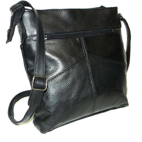 Hollywood Tag Leather Mini iPad Messenger Bag