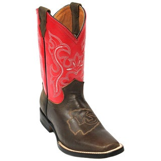 Kids Kansas City Chiefs Leather Western Boots